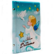 ALBUM BATISMO 15X21 PARA 40 FOTOS (anjinho azul)