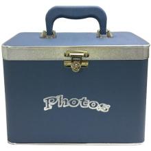 MALETA BOX C/ ÁLBUM P/ 600 FOTOS 10X15 (FLORENCE AZUL)